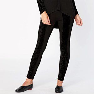 XCVI Black Opulence Legging Velour Stripe XS Pants